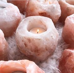 The Healing Himalayan Salt Rock Candle Holder / Simply Different