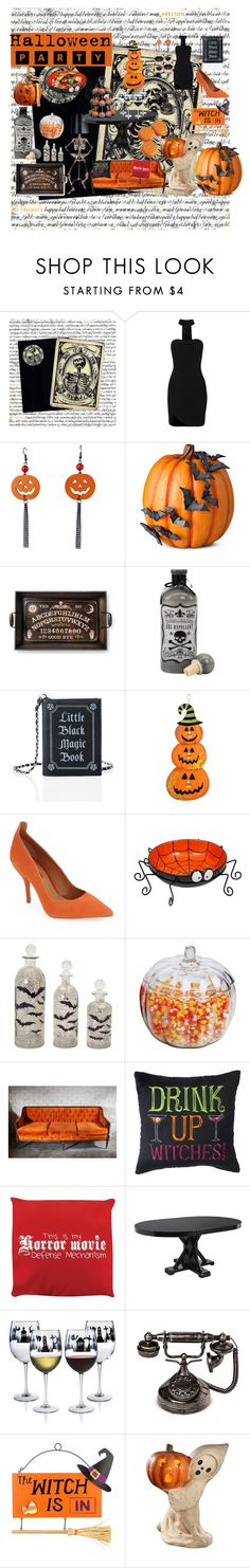 """""""Halloween Party"""" by rlperfectdisaster ❤ liked on Polyvore featuring interior, interiors, interior design, home, home decor, interior decorating, Chicnova Fashion, Improvements, Current Mood and Topshop"""