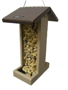 Special Offers - Birds Choice Whole Peanut Blue Jay Feeder with Brown Roof - In stock & Free Shipping. You can save more money! Check It (July 02 2016 at 10:31PM) >> http://birdhouseusa.net/birds-choice-whole-peanut-blue-jay-feeder-with-brown-roof/