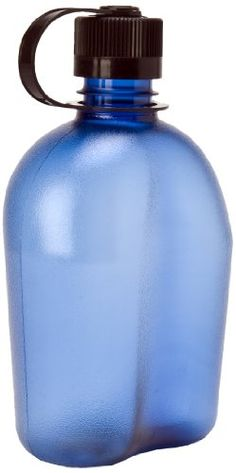 Nalgene 340953 OASIS Blue Bottle With Black Cap, 32 oz - Free from BPA, this is an Everyday bottle that is one you will want close at hand at all times. Nalgene's 32 oz narrow-mouth Canteen made in tough, translucent Eastman Tritan copolyester.