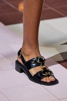 Prada Spring 2020 Ready-to-Wear Collection - Vogue Prada Spring, Cute Womens Shoes, Womens Shoes Wedges, Pump Shoes, Shoe Boots, Women's Shoes, Shoes Sneakers, Flat Shoes, Platform Shoes