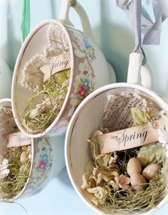 love the use of the tea cups