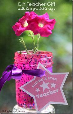 Back-To-School Mason Jars - Teacher Gift Ideas with Mason Jars - Kids Craft for Teacher Gifts with Mason Jars - Mason Jar Crafts for Kids