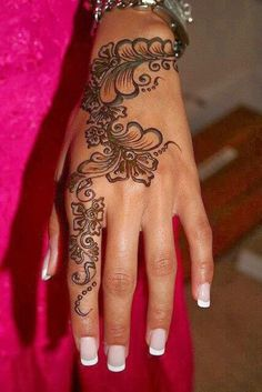 Awesome Hand Henna Flower Designs 2016