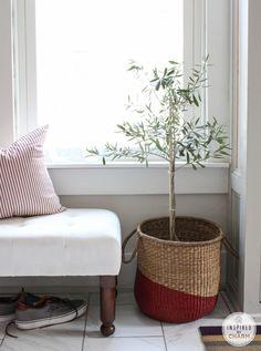 DIY Paint Dipped Basket