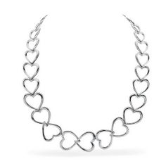 Forever Heart , Sterling Silver and Diamond Necklace