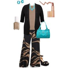 """""""plus size palazzo outfit"""" by penny-martin on Polyvore"""
