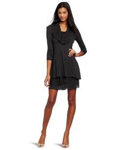 Kensie Women's Long Sleeve Sheer Dress, Heather Charcoal, Small kensie http://www.amazon.com/dp/B000YXD5OG/ref=cm_sw_r_pi_dp_quQpub0VZRDFE