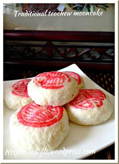 Discover what are Chinese Food Treat Christine's Recipe, Chinese Moon Cake, Asian Cake, Cake Recipes, Dessert Recipes, Pastry Cake, Cake Cookies, Food Dishes, Cookie Dough
