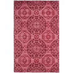Handmade Chatham Treasures Red New Zealand Wool Rug (4' x 6')