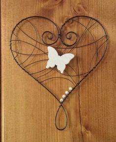 Srdce bílý motýl
