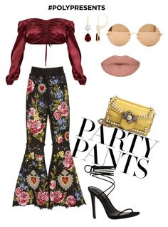 """#PolyPresents: Fancy Pants"" by honey-coco ❤ liked on Polyvore featuring Dolce&Gabbana, Gucci, Victoria Beckham, contestentry and polyPresents"