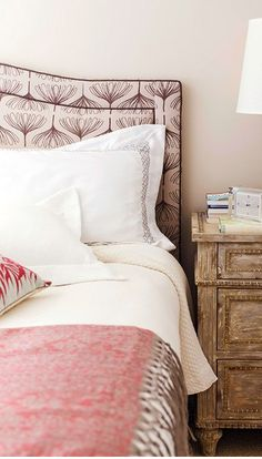 Romantic. The bedspread is perfect -- the dappling, muting effect of the pattern from a distance is spot-on.