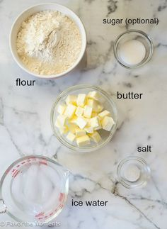 Make Flaky Pie Crust in your food processor with 3 simple ingredients and about 15 minutes of prep. Homemade pie crust has never been easier! #piecrust #homemadepiecrust #piecrustrecipe Homemade Pie Crust Easy, Easy Pie Crust, Strudel Recipes, Pie Crust Recipes, Pastry Recipes, Baking Recipes, Pie Crust From Scratch, Strawberry Dessert Recipes, Best Bread Recipe