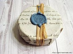 Soap wrapping idea--use book pages with wax seal. Soap wrapping idea--use book pages with wax seal. Creation Bougie, Soap Packing, Soap Labels, Little Presents, Homemade Soap Recipes, Soap Boxes, Shaving Soap, Milk Soap, Home Made Soap