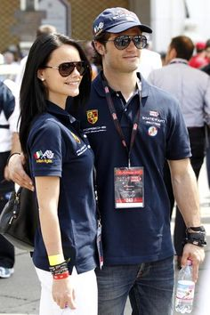 Prince Carl Philip of Sweden with girlfriend Sofia Hellqvist