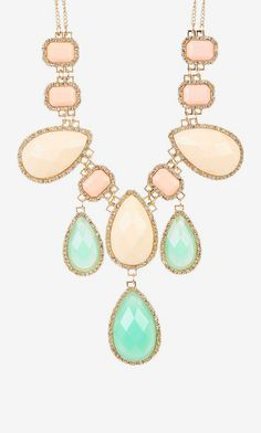 Color Crystal Necklace