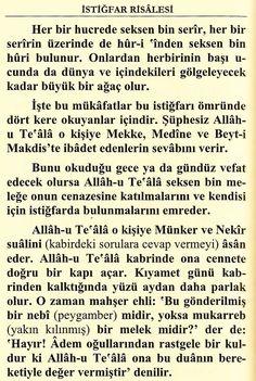 AŞIRI ÇOK ÇOK FAZİLETLİ İSTİĞFAR (SAKIN KAÇIRMA) - Dualar ve Zikirler Allah Islam, Math, Math Resources, Early Math, Allah, Mathematics