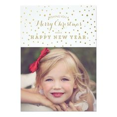 Deals Classy Gold Dots Merry Christmas Photo Card online after you search a lot for where to buy Merry Christmas Card Photo, Custom Christmas Cards, Personalised Christmas Cards, Christmas Pictures, Holiday Cards, Holiday Gifts, Xmas, Personalized Greeting Cards, Merry Happy