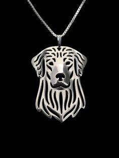 Geometrische zilver Plated Golden Retriever hanger Honden
