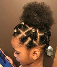 Lil Girl Hairstyles, Natural Hairstyles For Kids, Braided Hairstyles For Black Women, My Hairstyle, Box Braids Hairstyles, Kids Natural Hair, Black Toddler Hairstyles, Mixed Kids Hairstyles, Children Hairstyles