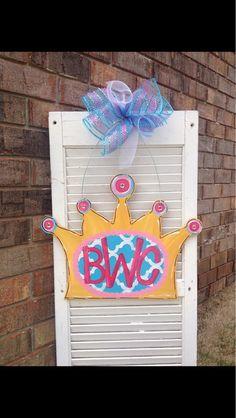 Crown Door Hanger on Etsy, $30.00