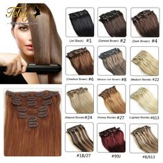 16-24inch Brazilian Virgin Hair Clip In Human Hair Extensions 100g 28Colors 100%Remy Human Hair Brazilian Clip In Hair Extension *** Click on the VISIT button to see this great product.