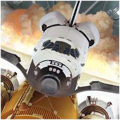 Space Shuttle liftoff - astronaut | rocket