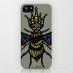 Queen Bee iPhone Case by schillustration