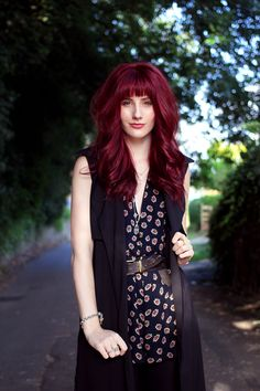 Red Hair With Bangs, Hairstyles With Bangs, Missguided, What I Wore, Personal Style, Backless, Fashion Outfits, How To Wear, Black