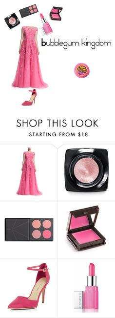 """Bubblegum kingdom"" by izzie12410 ❤ liked on Polyvore featuring Zuhair Murad, Bobbi Brown Cosmetics, ZOEVA, Jouer, New Look and Clinique"