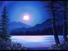 Moonlit Waters / Small & Simple #OilPainting Exercise for Beginners - YouTube