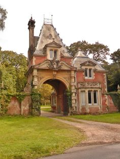 Ornate Gatehouse, Lyndhurst, New Forest, Hampshire, England