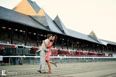 meghan & geoff's saratoga race course engagement shoot | Joe Elario Photography