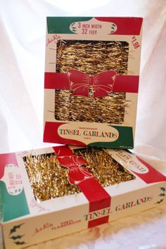 New Old Stock Vintage Christmas Tree Tinsel Garland Art Rite