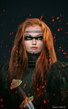 viking woman #2, Anton Kazakov on ArtStation at https://artstation.com/artwork/viking-woman-2