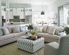 This Jupiter, Florida home by Krista Watterworth Design showcases a fresh and bright palette of airy whites and crisp, clean lines with nautical influences.