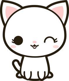 samsung wallpaper white Kawaii white cat by peppermintpop Kawaii Girl Drawings, Cute Cartoon Drawings, Cute Easy Drawings, Cute Animal Drawings, Easy Disney Drawings, Kawaii Doodles, Cute Doodles, Griffonnages Kawaii, Book Drawing