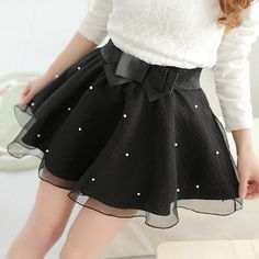 Buy 2016 New Women Tutu Pleated Organza Bow Knot Umbrella Skirt Bust Lei Mesh Gauze Mini Tulle White Black Skirt in Women's Skirts on AliExpress Black Tutu Skirt, Sexy Skirt, Black Skirts, Baby Girl Dresses, Baby Dress, Baby Girls, Knit Fashion, Girl Fashion, Style Fashion
