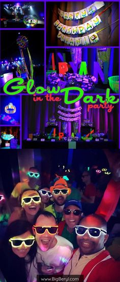 Glow in the dark birthday, halloween, new years party decorations and supplies - Light up glow led shades and glasses! Birthday Balloon Decorations, Bachelorette Party Decorations, Bridal Shower Decorations, Diy Party Decorations, Glow Stick Wedding, Glow Stick Party, Glow Sticks, Foil Number Balloons, Bridal Shower Balloons