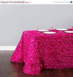 """Satin Rosette Table Linen..."" several by mrsfreund"