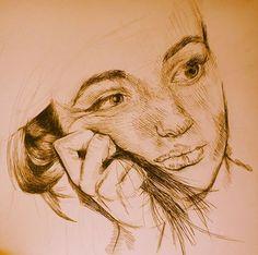 AS ART - Portraiture - fineliner