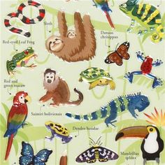 cute jungle animals epoxy sticker by Mind Wave