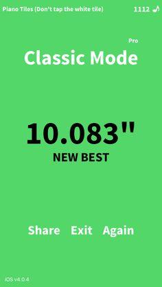 "Pro Classic Mode, 10.083"" ! Who can beat me in @PianoTiles -> http://tiles.wan.liebao.cn/d"