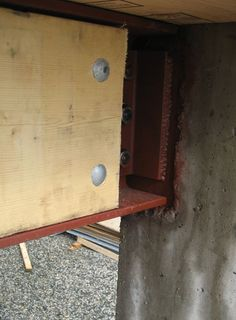 STRUCTURE-steel to concr. « home building in Vancouver Steel House, Under Construction, Wood Working, Gates, Beams, Vancouver, Building A House, Concrete, Connection