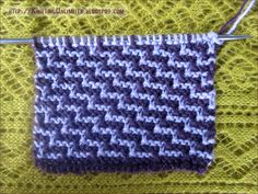 Staircase Slip Stitch knitting Pattern