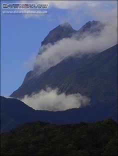 Mount Kinabalu from the eastern ridge area called Mesilau in the late morning. Kinabalu Park, Mount Kinabalu, Morning Start, Early Morning, Travel Center, Sea Level, Holiday Activities, Borneo, Natural World