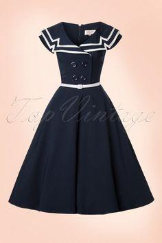 Tatyana Navy Sailor Swing Dress 102 31 20884 20170113 0001W