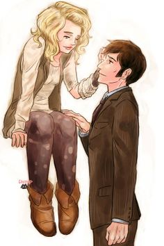 Rose x Ten FanArt  #DoctorWho<-- kinda more Like bad wolf and ten but yea still equally as sad and heartwarming