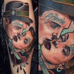 Tattooed Bonnie and Clyde by Alex Dörfler.